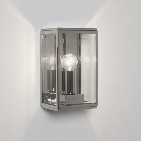 Настенный светильник Astro Homefield 1095014 (7591), IP44, 1xE14x60W, хром, прозрачный, стекло