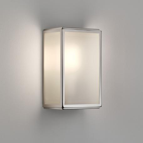 Настенный светильник Astro Homefield Frosted 1095016 (7857), IP44, 1xE27x60W, никель, стекло