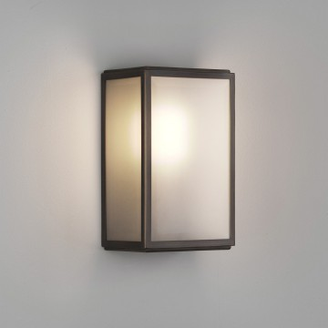Настенный светильник Astro Homefield Frosted 1095018 (7875), IP44, 1xE27x60W, белый, бронза, стекло