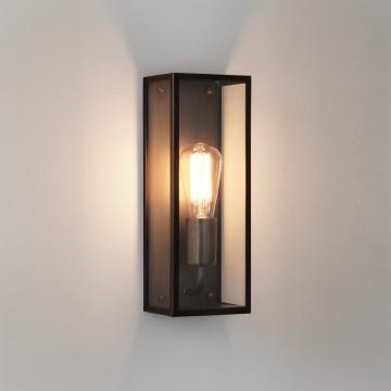 Настенный светильник Astro Messina 1183007 (7861), IP44, 1xE27x60W, бронза, прозрачный, стекло