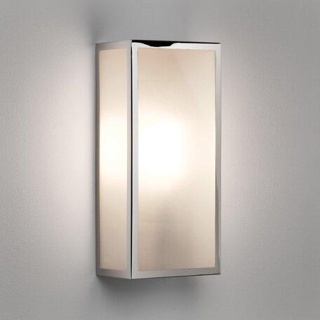 Настенный светильник Astro Messina Frosted 1183010 (7871), IP44, 1xE27x60W, никель, стекло