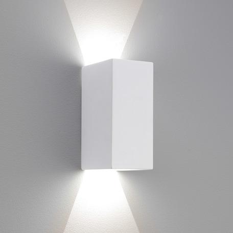 Настенный светодиодный светильник Astro Parma 1187014 (7598), LED 6,4W 2700K 154.59lm CRI80, белый, под покраску, гипс