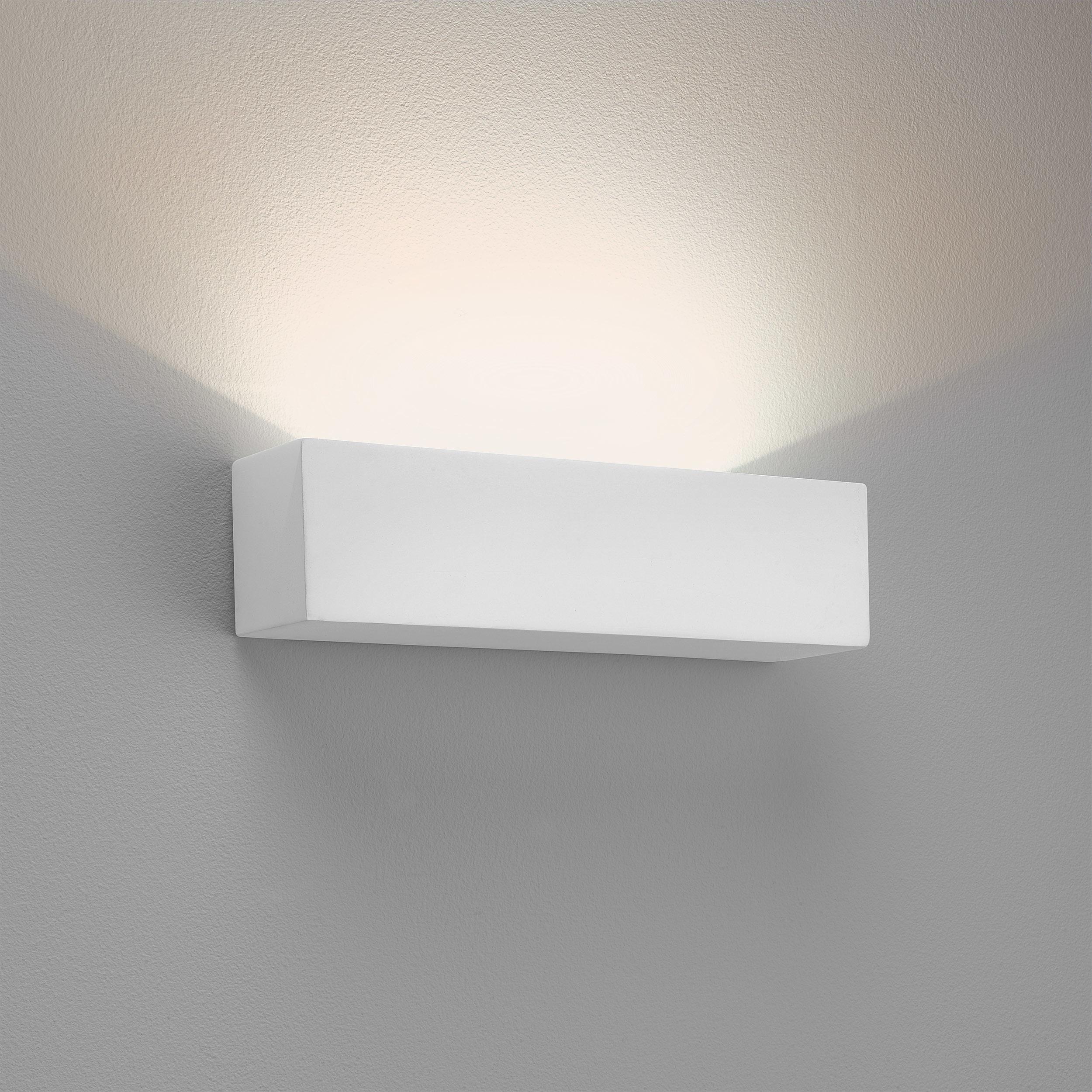Настенный светодиодный светильник Astro Parma 1187015 (7599), LED 8,7W 2700K 319lm CRI80, белый, под покраску, гипс - фото 1