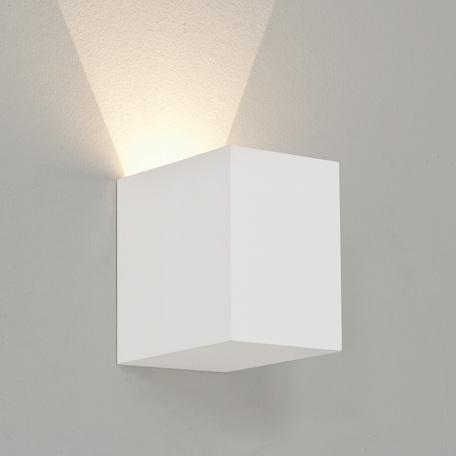 Настенный светодиодный светильник Astro Parma 1187016 (7606), LED 3,9W 2700K 75.7lm CRI80, белый, под покраску, гипс