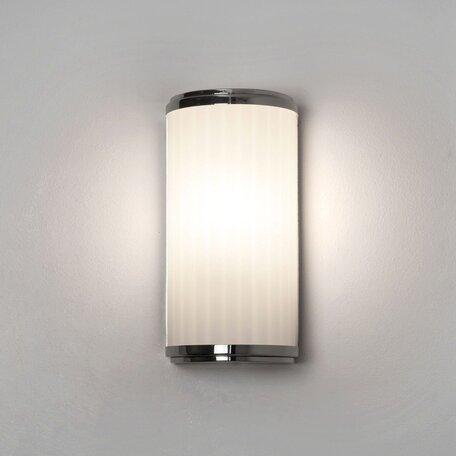 Настенный светодиодный светильник Astro Monza 1194017 (7839), IP44 3000K (теплый), хром, белый, металл, стекло - миниатюра 1