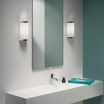 Настенный светодиодный светильник Astro Monza 1194017 (7839), IP44 3000K (теплый), хром, белый, металл, стекло - миниатюра 2