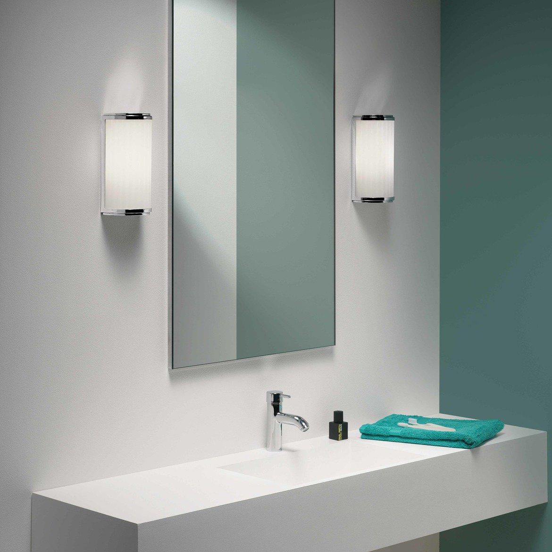 Настенный светодиодный светильник Astro Monza 1194017 (7839), IP44 3000K (теплый), хром, белый, металл, стекло - фото 2