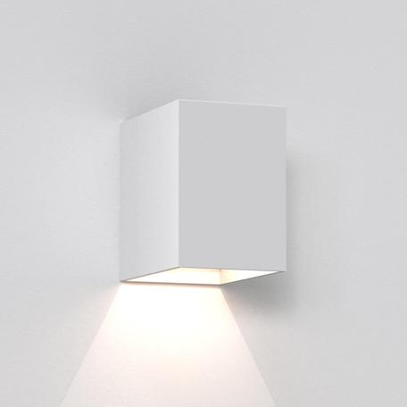 Настенный светодиодный светильник Astro Oslo 1298005 (7493), IP65, LED 3,8W 3000K 47.08lm CRI80, белый, металл, стекло