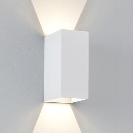 Настенный светодиодный светильник Astro Oslo 1298006 (7494), IP65, LED 6W 3000K 99.37lm CRI80, белый, металл, стекло