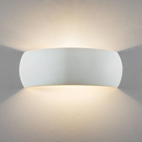 Настенный светильник Astro Milo 1299002 (7506), 1xE27x60W, белый, под покраску, керамика