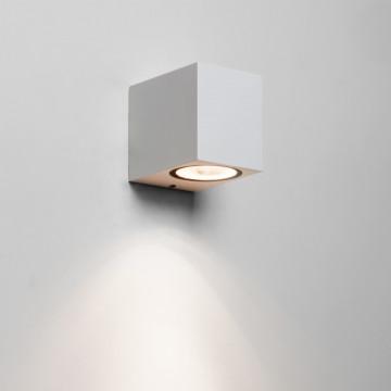 Настенный светильник Astro Chios 1310005 (7564), IP44, 1xGU10x6W, белый, металл, стекло