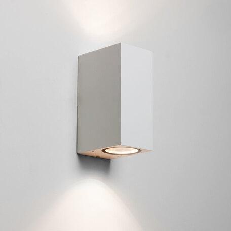 Настенный светильник Astro Chios 1310006 (7565), IP44, 2xGU10x6W, белый, прозрачный, металл, стекло