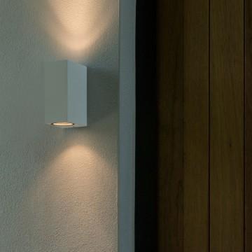 Настенный светильник Astro Chios 1310006 (7565), IP44, 2xGU10x6W, белый, металл, стекло - миниатюра 2
