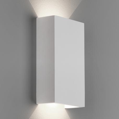 Настенный светодиодный светильник Astro Rio 1325007 (7936), LED 5,69W 2700K 196.58lm CRI80, белый, под покраску, гипс