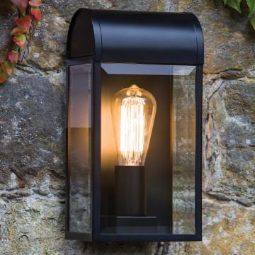 Настенный светильник Astro Newbury 1339002 (7863), IP44, 1xE27x60W, никель, прозрачный, стекло - миниатюра 2