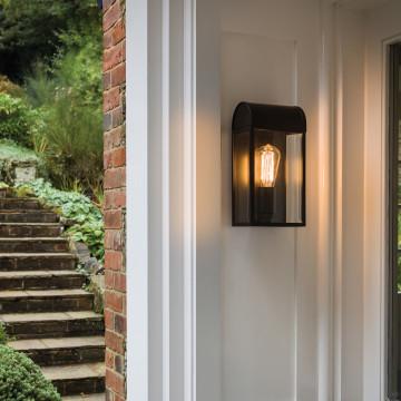 Настенный светильник Astro Newbury 1339002 (7863), IP44, 1xE27x60W, никель, прозрачный, стекло - миниатюра 3