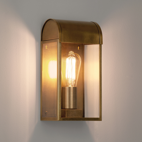 Настенный светильник Astro Newbury 1339003 (7862), IP44, 1xE27x60W, бронза, прозрачный, стекло