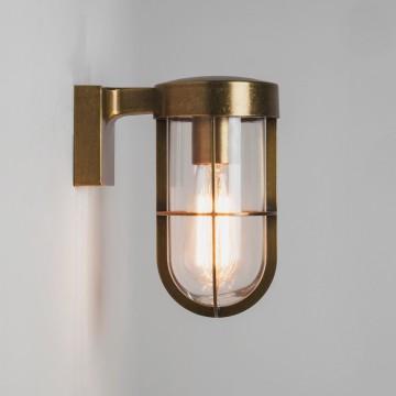 Настенный фонарь Astro Cabin 1368003 (7559), IP44, 1xE27x60W, бронза, прозрачный, металл, металл со стеклом