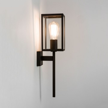 Настенный фонарь Astro Coach 1369001 (7563), IP44, 1xE27x60W, черный, прозрачный, металл, стекло - миниатюра 1