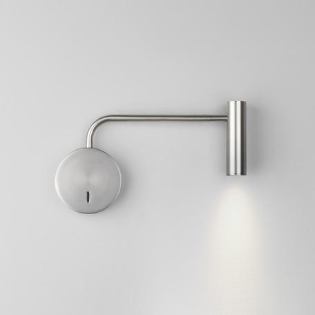 Настенный светодиодный светильник с регулировкой направления света Astro Enna 1058056 (7935), LED 4,7W 2700K 104.98lm CRI80, никель, металл