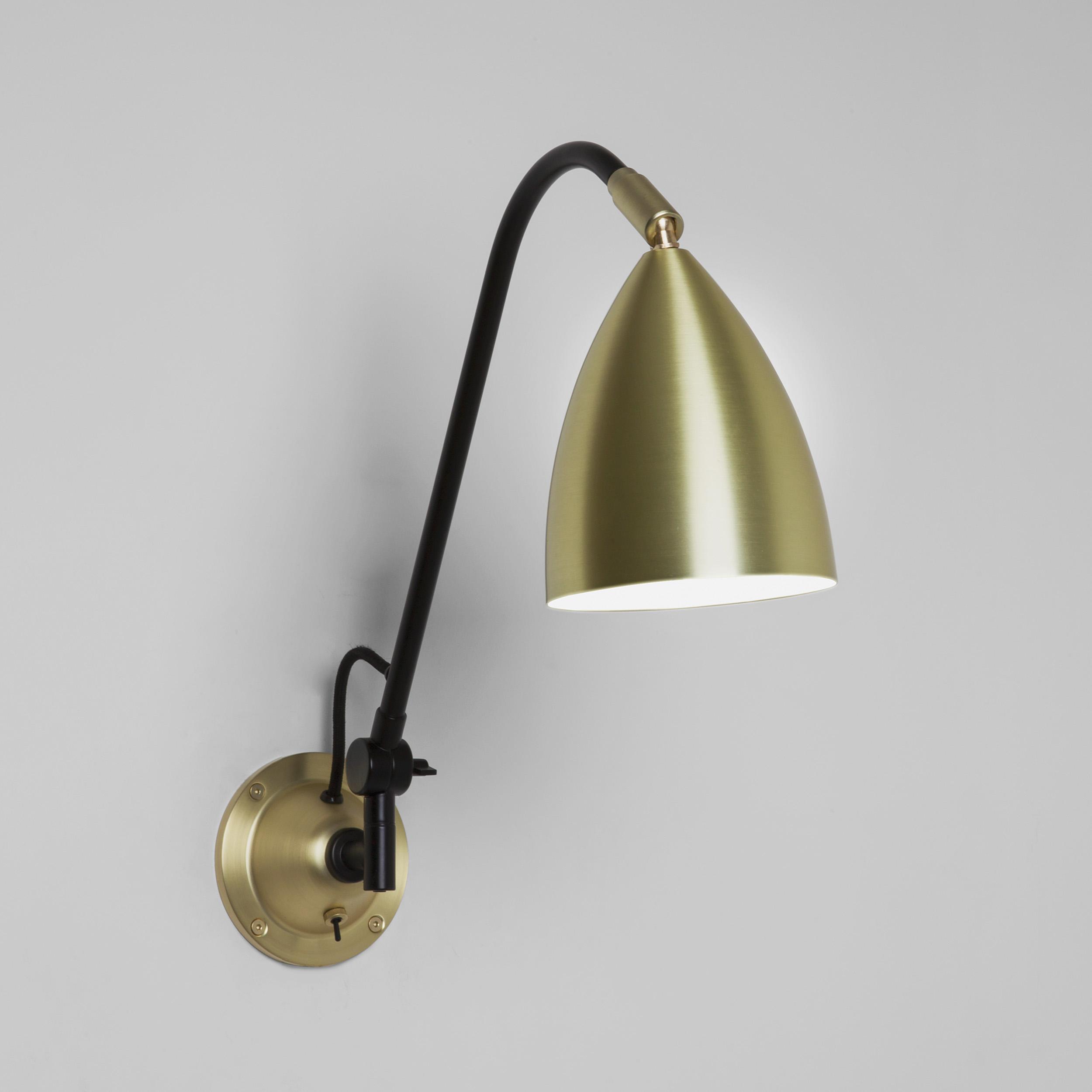 Настенный светильник Astro Joel 1223026 (7615), 1xE27x42W, матовое золото, черный, металл - фото 1