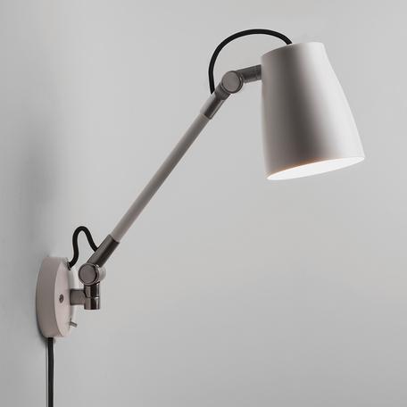 Настенный светильник с регулировкой направления света Astro Atelier 1224015 (7504), 1xE27x28W, белый, хром, металл