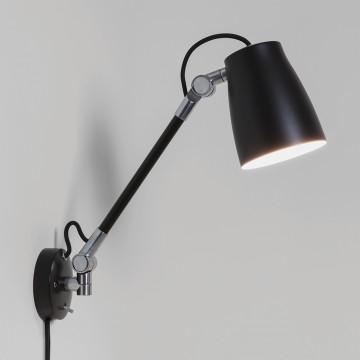 Настенный светильник с регулировкой направления света Astro Atelier 1224016 (7505), 1xE27x28W, черный, металл