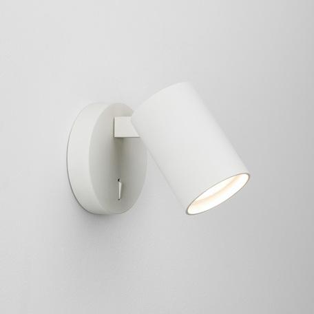 Настенный светильник с регулировкой направления света Astro Ascoli 1286010 (7940), 1xGU10x6W, белый, металл
