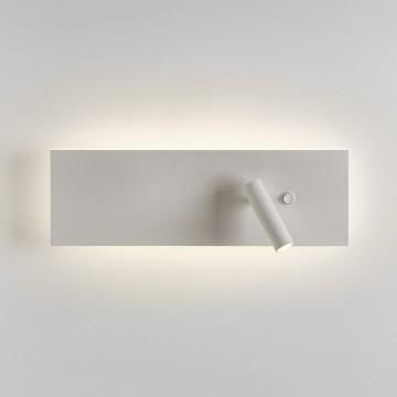 Настенный светодиодный светильник с регулировкой направления света с дополнительной подсветкой Astro Edge 1352008 (7959), LED 19,8W 2700K 547.52lm CRI80, белый, металл