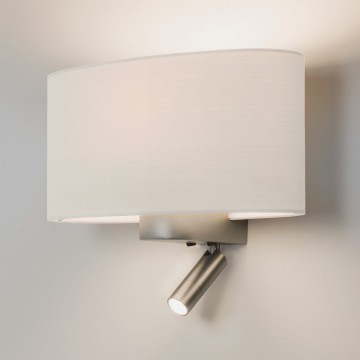 Основание бра с дополнительной подсветкой Astro Napoli LED 1185003 (7580), 1xE27x60W + LED 2W 2700K CRI80, никель, металл