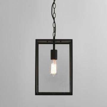 Подвесной светильник Astro Homefield 1095015 (7814), IP23, 1xE27x60W, черный, прозрачный, металл, стекло