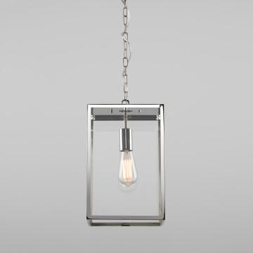 Подвесной светильник Astro Homefield 1095020 (7874), IP23, 1xE27x60W, хром, прозрачный, металл, стекло