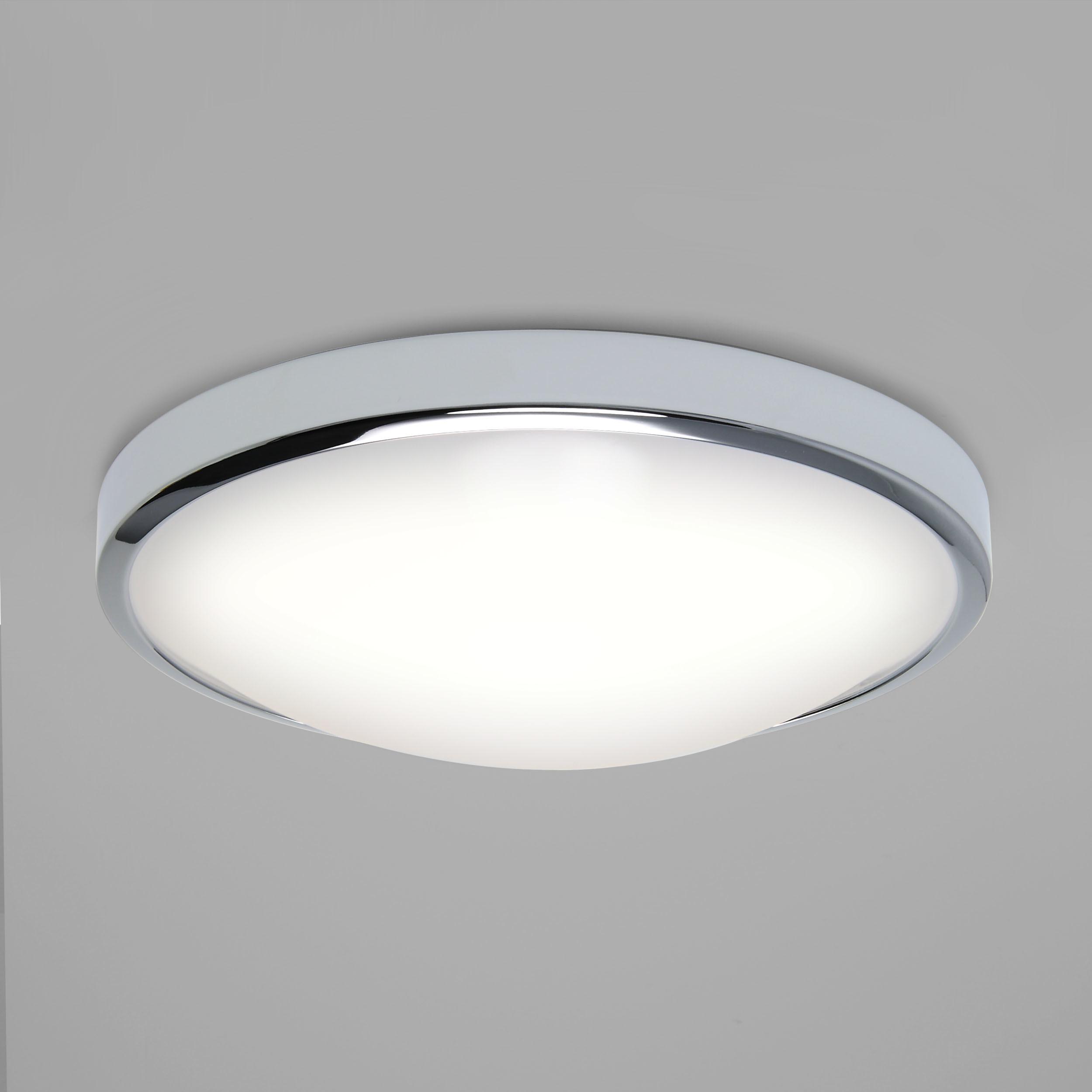 Потолочный светодиодный светильник Astro Osaka LED 1061009 (7831), IP44, LED 16W 2700K 1048lm CRI>80, хром, металл с пластиком, пластик - фото 1