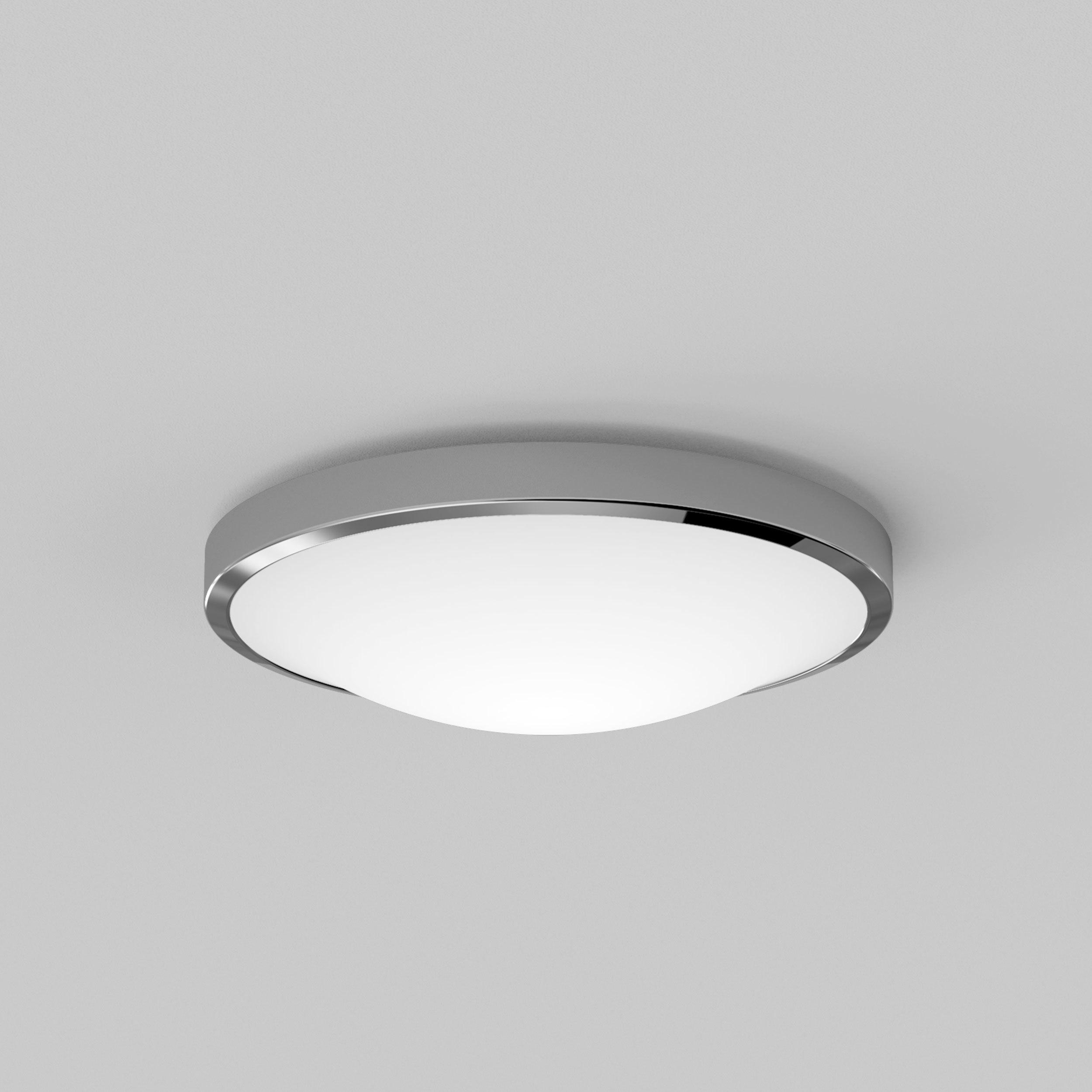 Потолочный светодиодный светильник Astro Osaka LED 1061009 (7831), IP44, LED 16W 2700K 1048lm CRI>80, хром, металл с пластиком, пластик - фото 3