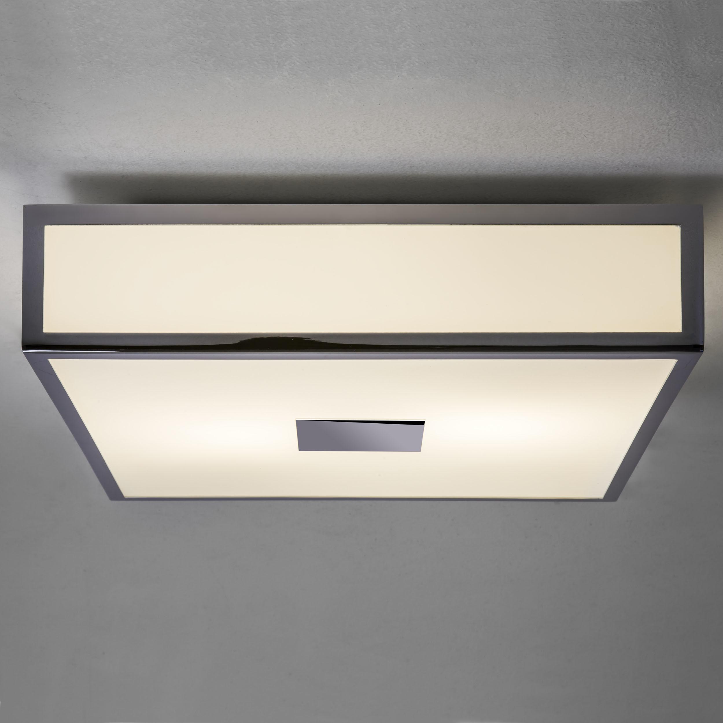 Потолочный светодиодный светильник Astro Mashiko LED 1121081 (7942), IP44, LED 15,9W 2700K 981lm CRI>80, хром, стекло - фото 1