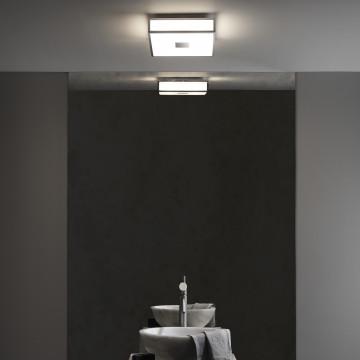 Потолочный светодиодный светильник Astro Mashiko LED 1121081 (7942), IP44, LED 15,9W 2700K 981lm CRI>80, хром, стекло - миниатюра 3