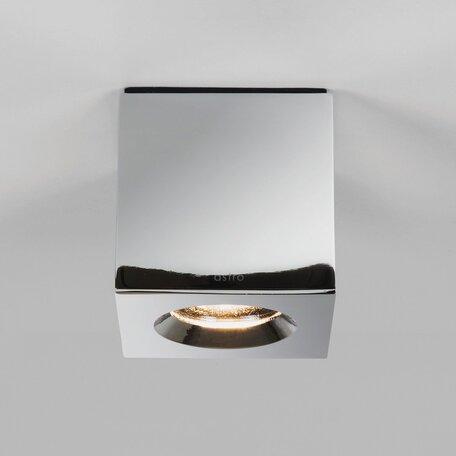 Потолочный светильник Astro Kos 1326005 (7508), IP65, 1xGU10x6W, прозрачный, хром, металл, стекло