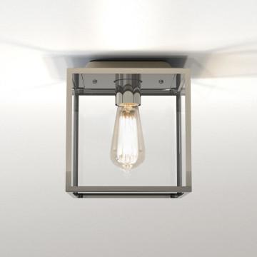 Потолочный светильник Astro Box 1354002 (7846), IP23, 1xE27x60W, никель, прозрачный, стекло
