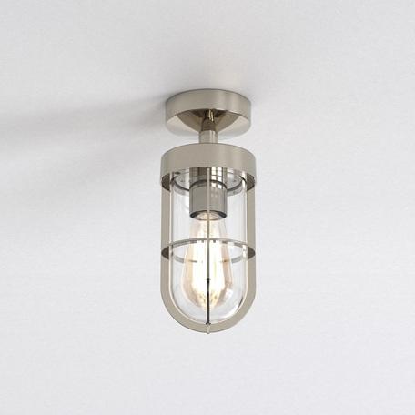 Потолочный светильник Astro Cabin 1368001 (7557), IP44, 1xE27x60W, хром, прозрачный, металл, металл со стеклом