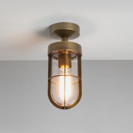 Потолочный светильник Astro Cabin 1368002 (7558), IP44, 1xE27x60W, бронза, прозрачный, металл, металл со стеклом