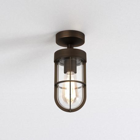 Потолочный светильник Astro Cabin 1368009 (7851), IP44, 1xE27x60W, бронза, прозрачный, металл, металл со стеклом