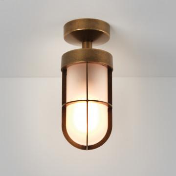 Потолочный светильник Astro Cabin 1368012 (7854), IP44, 1xE27x60W, бронза, металл, металл со стеклом