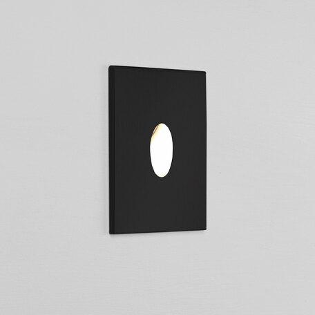 Встраиваемый настенный светодиодный светильник Astro Tango LED 1175009 (7525), IP65, LED 1W 2700K 29.2lm CRI80, черный, металл, стекло