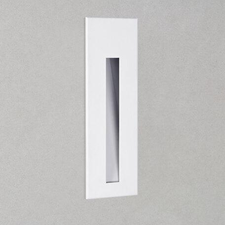 Встраиваемый настенный светодиодный светильник Astro Borgo 1212021 (7527), LED 2W 2700K 40lm CRI80, белый, металл