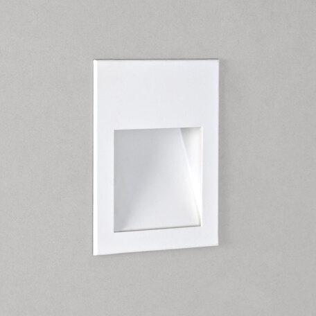 Встраиваемый настенный светодиодный светильник Astro Borgo 1212024 (7530), LED 2W 2700K 68lm CRI80, белый, металл