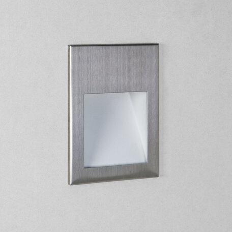 Встраиваемый настенный светодиодный светильник Astro Borgo 1212026 (7532), LED 2W 2700K 68lm CRI80, сталь, металл