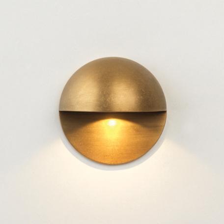 Встраиваемый настенный светодиодный светильник Astro Tivola LED Coastal 1338004 (7971), IP65, LED 2W 3000K 82lm CRI80, бронза, металл, стекло