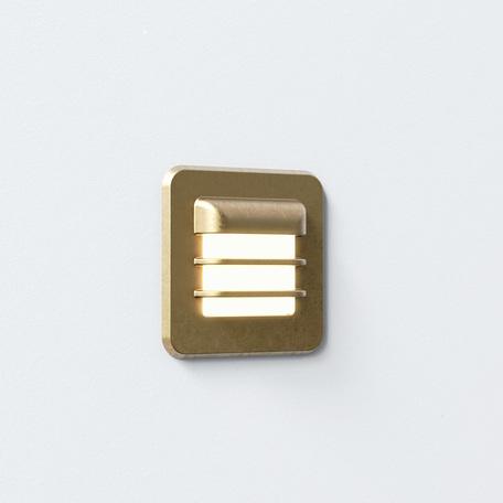 Встраиваемый настенный светодиодный светильник Astro Arran 1379001 (7877), IP65, LED 2W 2700K 46lm CRI80, бронза, металл со стеклом, стекло - миниатюра 1