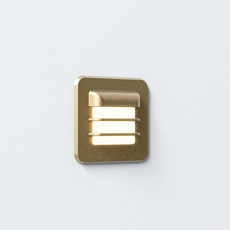 Встраиваемый настенный светодиодный светильник Astro Arran 1379001 (7877), IP65, LED 2W 2700K 46lm CRI80, бронза, металл со стеклом, стекло - фото 1