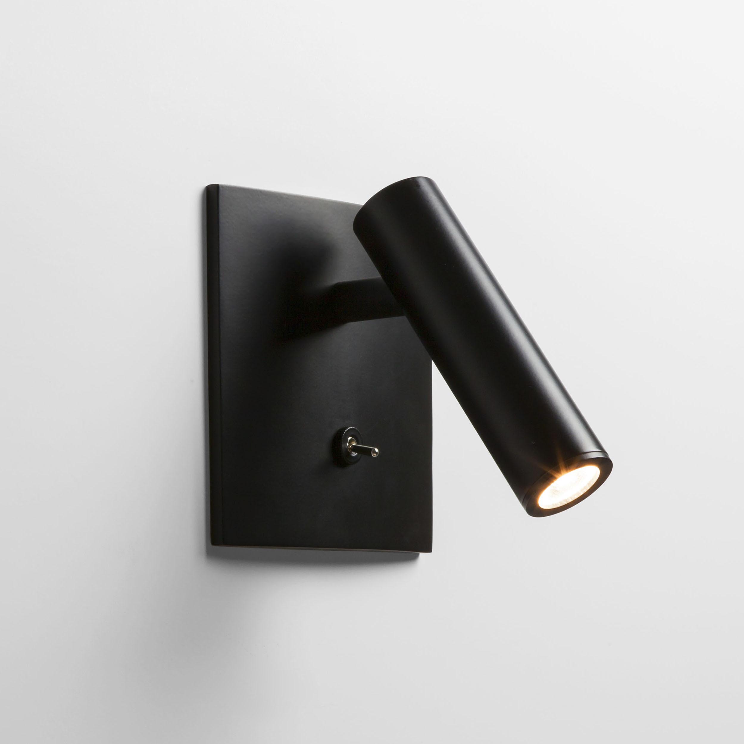 Встраиваемый настенный светодиодный светильник с регулировкой направления света Astro Enna 1058024 (7496), LED 4,47W 2700K 111.44lm CRI80, черный, металл - фото 1